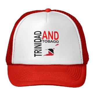 Mapa de la bandera de Trinidad and Tobago Gorros Bordados