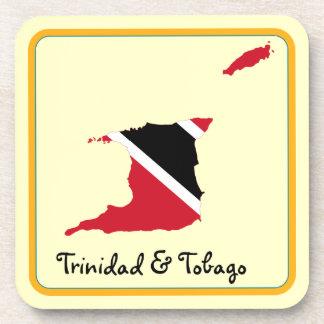Mapa de la bandera de Trinidad and Tobago Posavasos
