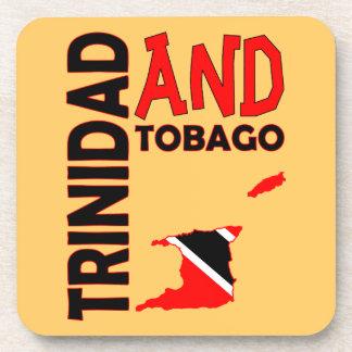 Mapa de la bandera de Trinidad and Tobago Posavasos De Bebidas