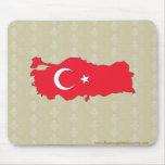 Mapa de la bandera de Turquía del mismo tamaño Tapetes De Ratón