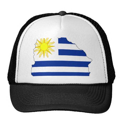 Mapa de la bandera de Uruguay Gorra