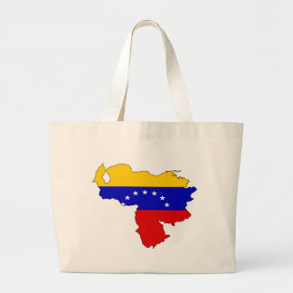 Mapa de la bandera de Venezuela Bolsa Tela Grande