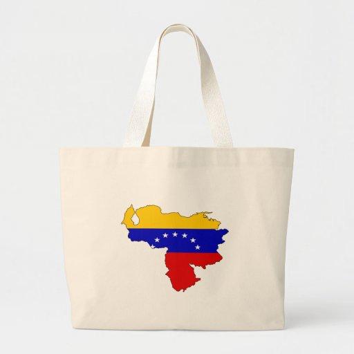 Mapa de la bandera de Venezuela del mismo tamaño Bolsa Lienzo