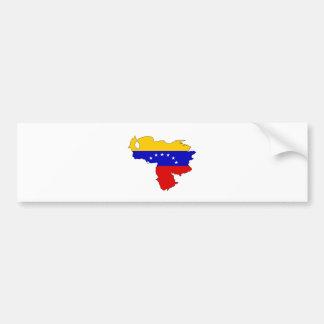 Mapa de la bandera de Venezuela del mismo tamaño Pegatina De Parachoque