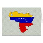 Mapa de la bandera de Venezuela del mismo tamaño Felicitación