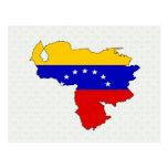 Mapa de la bandera de Venezuela del mismo tamaño Postal