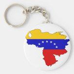 Mapa de la bandera de Venezuela Llavero Redondo Tipo Pin