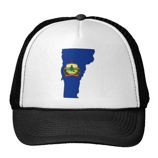 Mapa de la bandera de Vermont Gorros Bordados