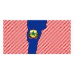 Mapa de la bandera de Vermont Tarjeta Fotografica Personalizada