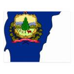Mapa de la bandera de Vermont Tarjeta Postal