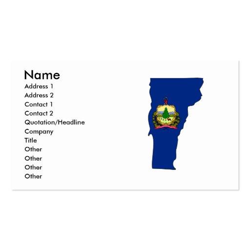 Mapa de la bandera de Vermont Tarjetas De Visita