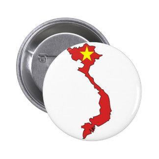 Mapa de la bandera de Vietnam Pin