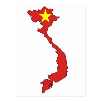 Mapa de la bandera de Vietnam Tarjeta Postal