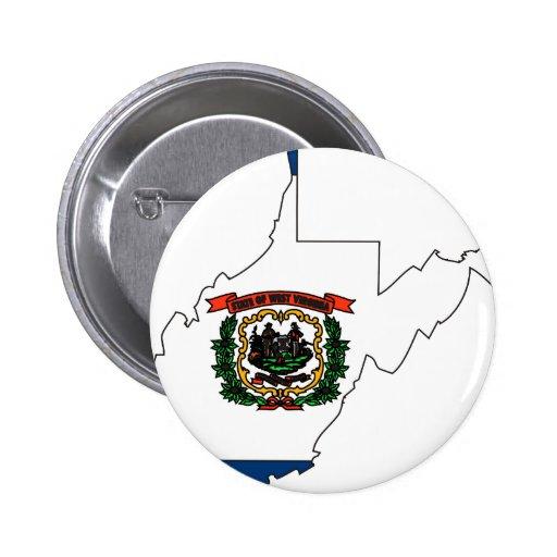 Mapa de la bandera de Virginia Occidental