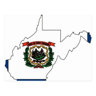 Mapa de la bandera de Virginia Occidental Postales