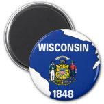 Mapa de la bandera de Wisconsin Iman De Frigorífico