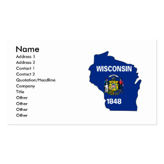 Mapa de la bandera de Wisconsin Tarjetas De Visita