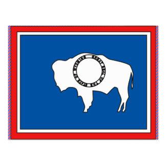 Mapa de la bandera de Wyoming Postales