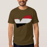 Mapa de la bandera de Yemen Playera