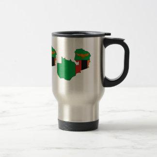 Mapa de la bandera de Zambia del mismo tamaño Tazas De Café