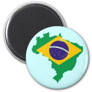 mapa de la bandera del Brasil Imán Redondo 5 Cm