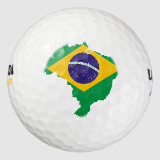 mapa de la bandera del Brasil Pack De Pelotas De Golf