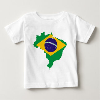 mapa de la bandera del Brasil Playera