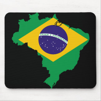mapa de la bandera del Brasil Alfombrilla De Ratón