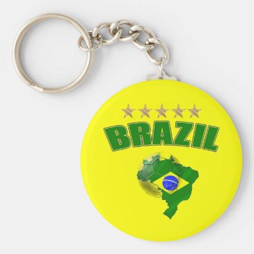 Mapa de la bandera del brasilen@o del Brasil del b Llaveros