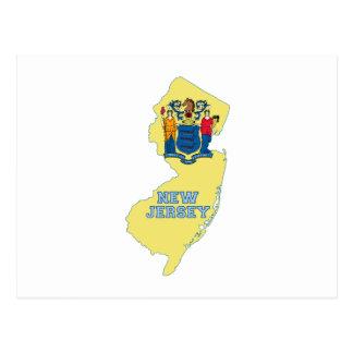 Mapa de la bandera del estado de New Jersey Postales