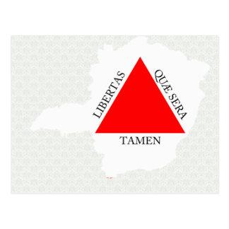 Mapa de la bandera del Minas Gerais del Brasil del Tarjetas Postales