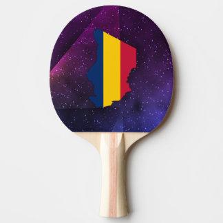 mapa de la bandera del sábalo en fondo abstracto pala de ping pong