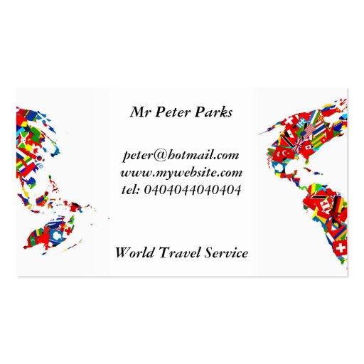 Mapa de la bandera, tarjetas de visita