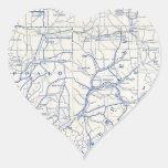 Mapa de la bicicleta de Wisconsin (1897) .jpg Pegatina Corazón Personalizadas