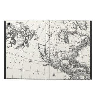 Mapa de la caja 1669 del aire del iPad de Américas
