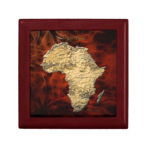 Mapa de la caja de regalo de la teja del arte de Á Joyero Cuadrado Pequeño