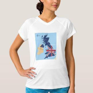 Mapa de la camiseta activa para mujer de Gran Playeras