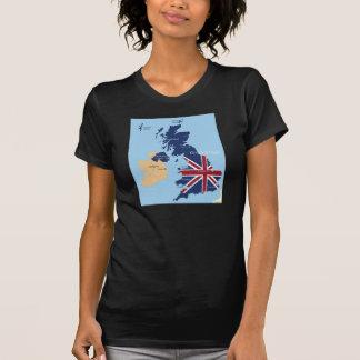 Mapa de la camiseta para mujer de Gran Bretaña Playeras