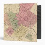 Mapa de la ciudad 1877 de Petaluma