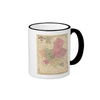 Mapa de la ciudad 1877 de Petaluma Taza A Dos Colores