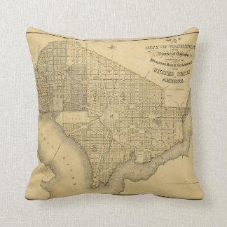 Mapa de la ciudad de C.C. de Washington (1839) Cojín