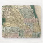 Mapa de la ciudad de Chicago Alfombrilla De Ratones