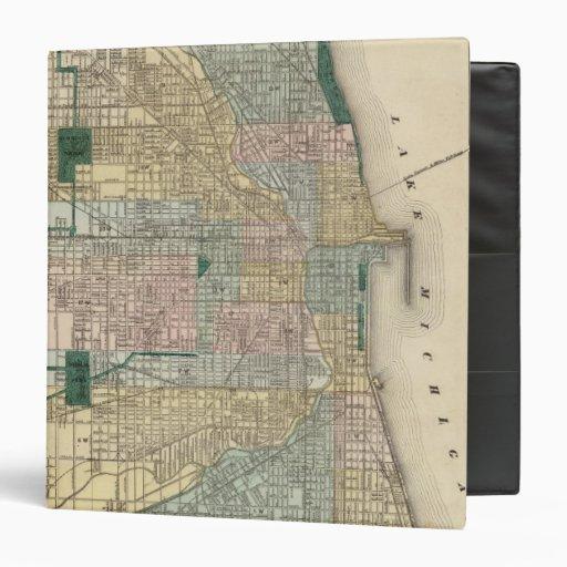 """Mapa de la ciudad de Chicago Carpeta 1 1/2"""""""