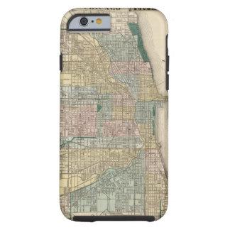 Mapa de la ciudad de Chicago Funda Para iPhone 6 Tough