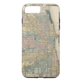 Mapa de la ciudad de Chicago Funda iPhone 7 Plus