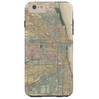 Mapa de la ciudad de Chicago Funda Resistente iPhone 6 Plus