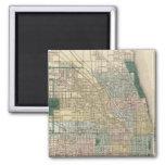 Mapa de la ciudad de Chicago Imán Cuadrado
