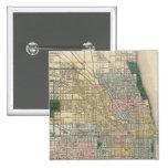 Mapa de la ciudad de Chicago Pin Cuadrado