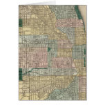 Mapa de la ciudad de Chicago Tarjeta De Felicitación