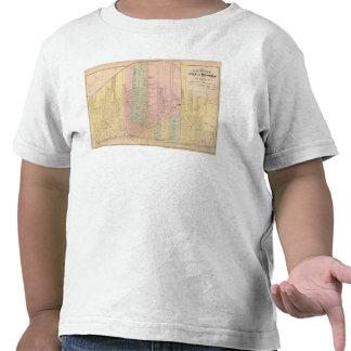 Mapa de la ciudad de Detroit Camisetas